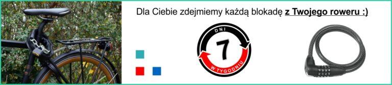 Awaryjne otwieranie blokady rowerowej w Łodzi